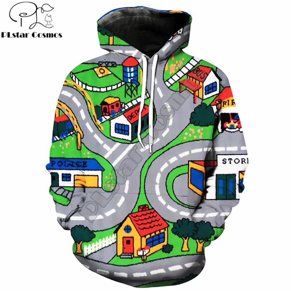 YX GIRL Drop shipping 2018 New Fashion Mens 3d hoodies Toy Roads Printed Hoodie Men/Women Casual Hoody Sweatshirts TZ-52