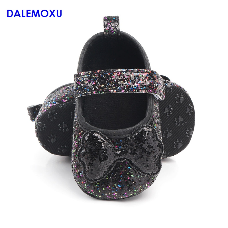 DALEMOXU Fashion Infant Glitter Shoes Love Bow Toddlers Wedding Princess Shoes Sequined Soft Sole Crib Sneaker Baby Girl Shoes in Sneakers from Mother Kids