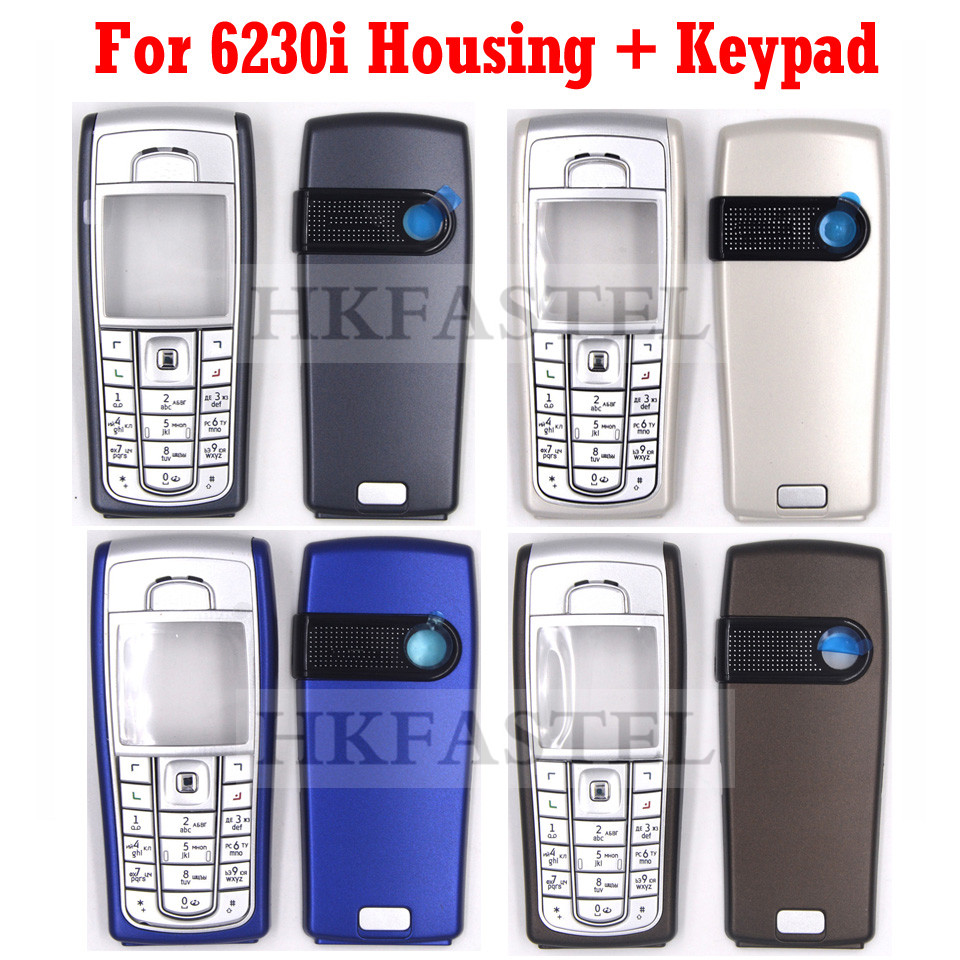5A High Quality Housing For <font><b>Nokia</b></font> <font><b>6230i</b></font> New Full Complete Mobile Phone Cover <font><b>Case</b></font> with Keypad Gray , Silver , Sky Blue , Brown image