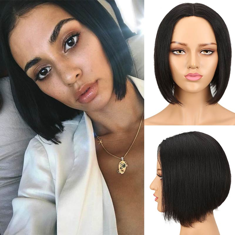 Rebecca Straight Bob Short Cut Hair Wigs Peruvian Remy Human Hair Wigs For Women Brown Ombre Red Pink Blond Wig Free Shipping