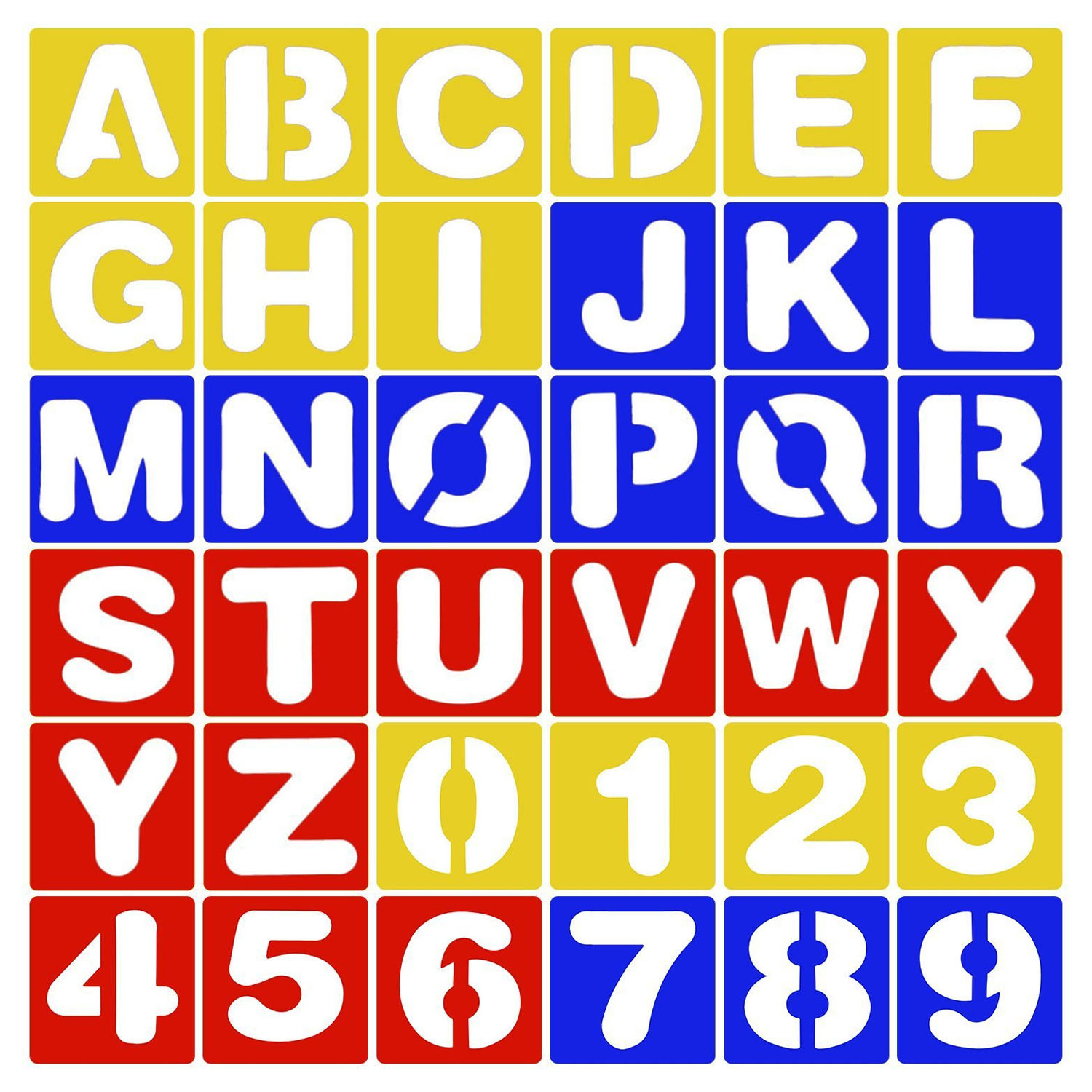 Letter Stencils Templates Small Capital Number Plastic Craft Lowercase Art Ruler