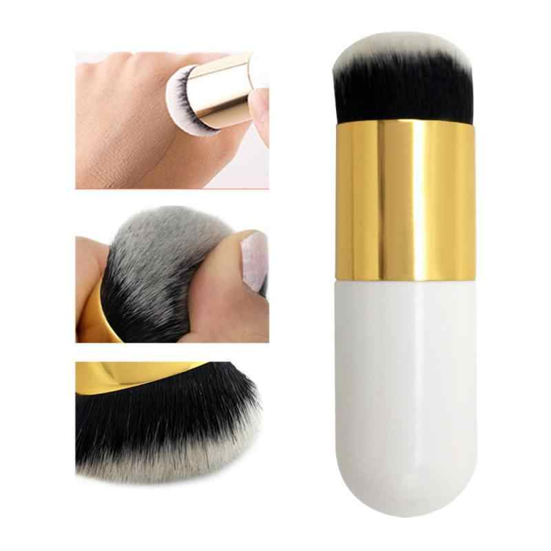 6 Warna 1PC Chubby Dun Foundation Sikat Portabel Profesional Lembut Makeup Brush Blush BB Cream Kosmetik Sikat Grosir