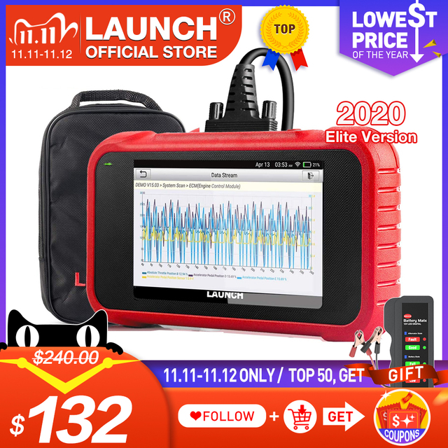 LAUNCH X431 CRP123E OBD2 Code Reader Scanner ENG ABS Airbag SRS Transmissie Auto Diagnostic Tool gratis update CRP123 crp123x