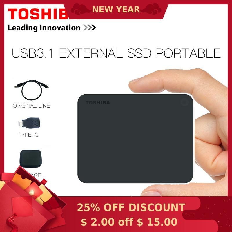 Galleria fotografica <font><b>Toshiba</b></font> USB3.1 Ssd Esterno Portatile Ssd da 480 Gb Tipo-C Solid State Disk da 240G per Il Telefono di Supporto di Windows 10 Mac