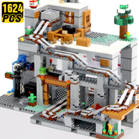 Creator Mini Minecraftinglys Building Blocks with Action Figures Mine Cave Expert My World Hell Jungle Bricks Toys for Kids