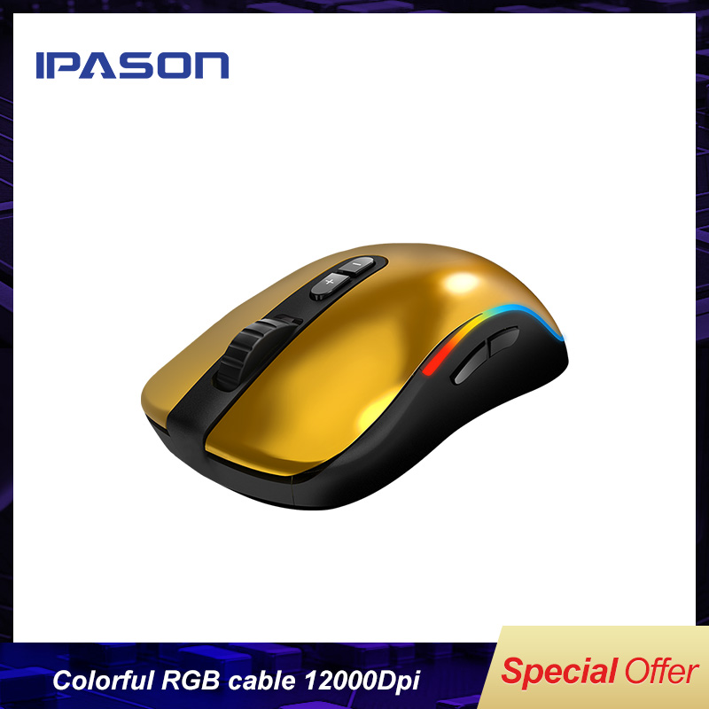 IPASON G9 colorful RGB cable game competitive <font><b>mouse</b></font> wired computer macro programming mechanical <font><b>mouse</b></font> LOL <font><b>12000Dpi</b></font> RGB Symphony image