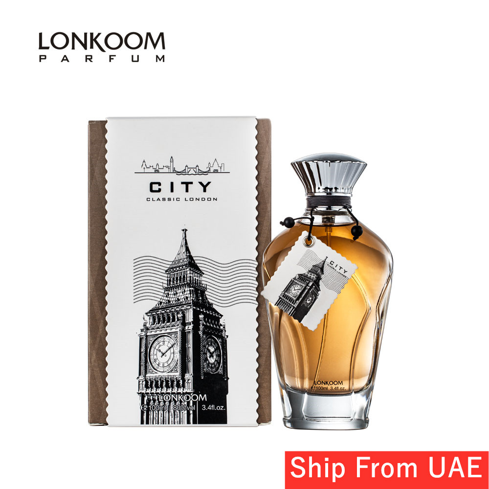 LONKOOM Perfume For Men CLASSIC LONDON Men Perfume Spicy-Woody Fragrance 100ml Long Lasting  Aroma  Free Shipping