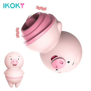 IKOKY Cute Pig Tongue Lick Women Vibrator Clitoris Vagina Massage Sex Toys For Woman Female Masturbator Mini Vibrators Anal Shop