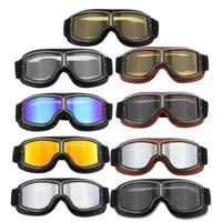 Motorcycle Goggles Off Road Riding Glasses Retro Leather Glasses Anti Sand Personality Glasses Anti Fall|Motorcycle Glasses| |  -