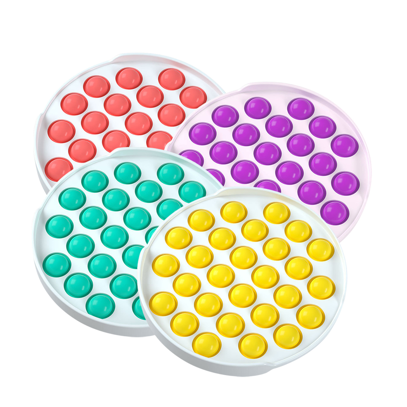 Toys Autism Anti-Stress Rainbow Bubble-Sensory Pops Squishy Fidget-Push Pop-It Colorful img3