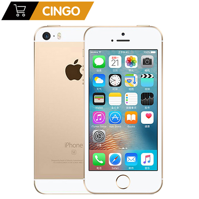"""Original Unlocked Apple iPhone SE 4G LTE Mobile Phone 4.0"""" 2G RAM 16/64GB ROM iOS Touch ID Chip A9 Dual Core 12.0MP Smartphone 1"""