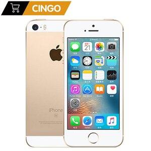 """Image 1 - 원래 잠금 해제 애플 아이폰 SE 4G LTE 휴대 전화 4.0 """"2G RAM 16/64GB ROM iOS 터치 ID 칩 A9 듀얼 코어 12.0MP 스마트 폰"""