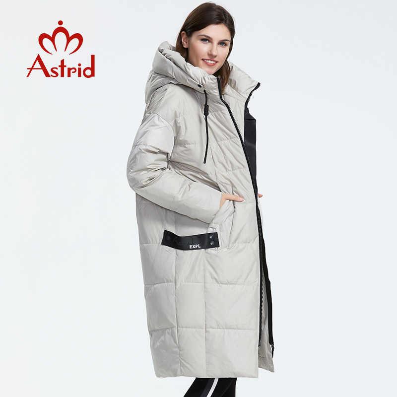 Astrid Mùa Đông 2019 Mới Xuất Hiện Xuống Áo Khoác Nữ Rời Quần Áo Khoác Ngoài Chất Lượng Với Hood Thời Trang Phong Cách Áo Khoác Mùa Đông AR-7038