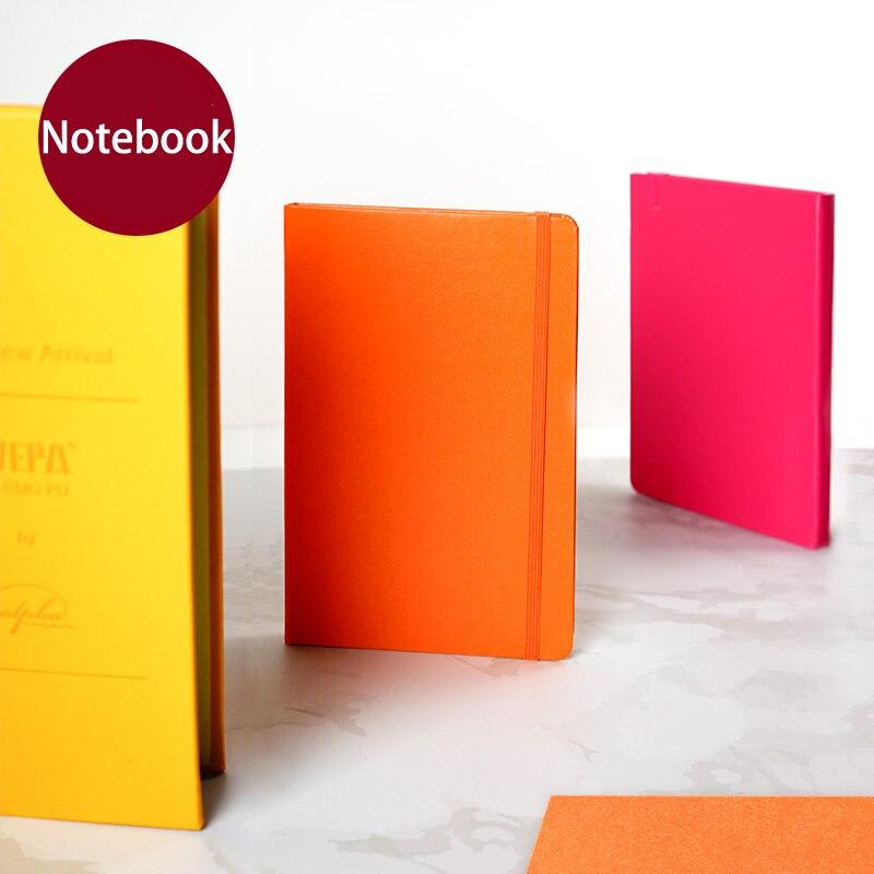 capa dura a5 a6 couro pu notebook arte sketchbook grade vazia diario 100gsm papel 112 paginas