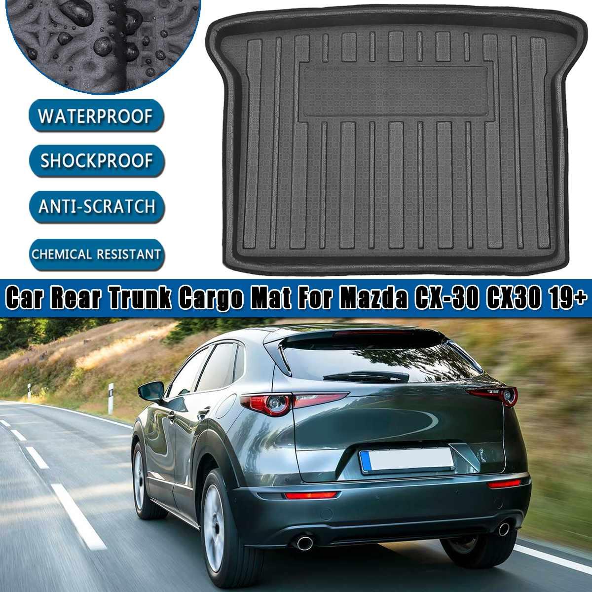 Rear Cargo Liner Boot Trunk Floor Mat Tray Carpet Mats Mud Kick For Mazda CX-30 CX30 2019 2020  Carpet Mud Protective Pad  1PCS