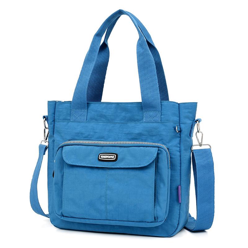 Big Ladies Hand Bags Nylon Casual Women Shoulder Bag Solid Waterproof Bolsos Mujer Lightweight Crossbody Bolsas Feminina