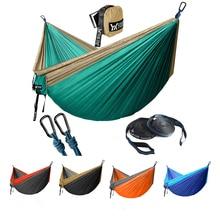 Upgrade Camping Hammock with Hammock Tree Straps Portable Parachute Nylon Hammock for Backpacking Travel