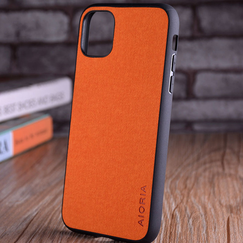 Luxury Textile Leather Skin Soft TPU hard PC Phone Cover for iPhone 11 pro max 5