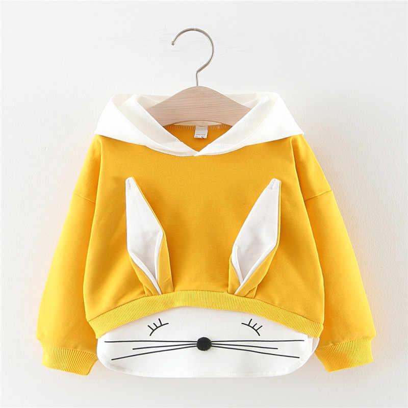 Lente Herfst Baby Meisjes Tops Katoenen Hooded Sweater Cartoon Gestreepte Casual Baby Boy Sportkleding Baby Peuter Kleding