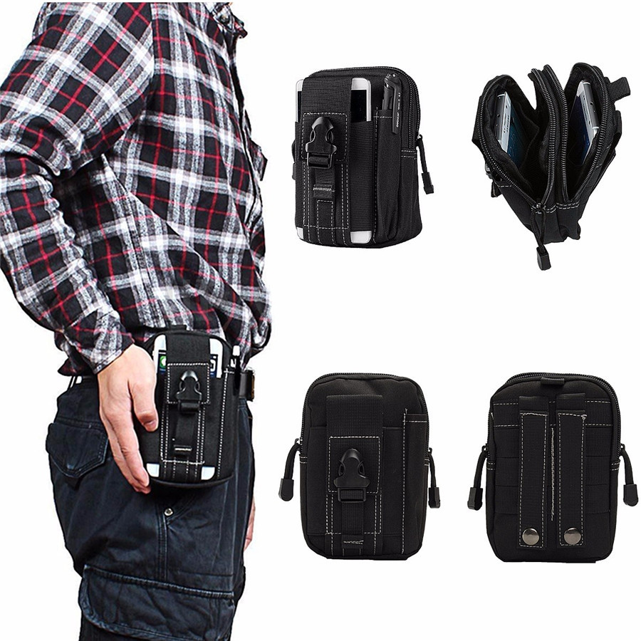 Mens Outdoor Tactical Molle Waist Pack Fanny Phone Pouch Belt Bag Camping Hiking Bag