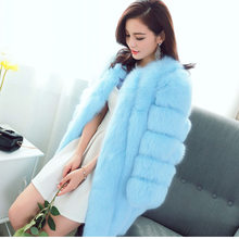 Faux Fur Coat Women Jacket Plus Size Imitation Fox Fur Coat Ladies Winter Jackets Woman Coats Jaqueta Feminina KJ310(China)