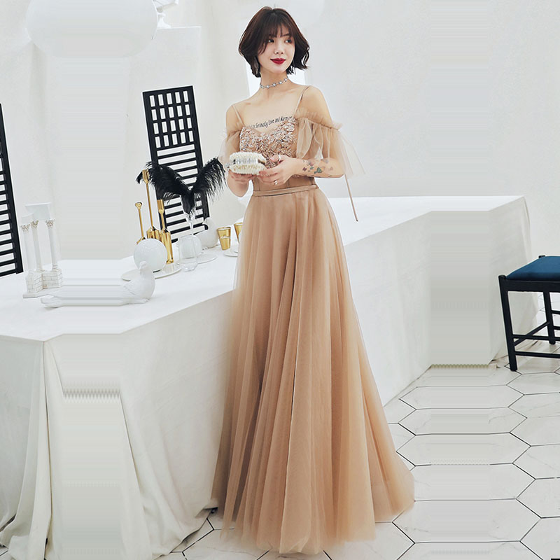 Evening Dress Boat Neck Crystal Women Party Dresses Backless Lace Up Robe De Soiree 2019 Plus Size Half-Sleeve Formal Gowns E732