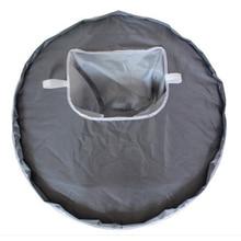 Портативный Круглый домашний Многофункциональный водонепроницаемый Настольный коврик для кормления детей, легко чистится, на кухне, с отверстием, складной коврик, анти-бросок