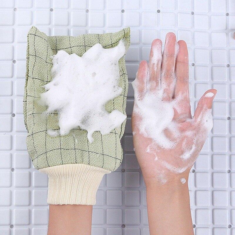Bath Gloves Exfoliating Gloves Dead Skin Removal Shower Mitten Bath Towel Body Scrubber Washcloth Mitt Deep Cleaning Scrub Glove