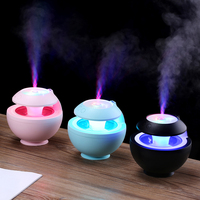 Backlight 6 in 1 USB ELF Night Light Shimmer Projection Humidifier Home Aroma LED Humidifier Air Diffuser Purifier