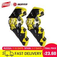 Scoyco Motorfiets Knie Pad Mannen Beschermende kleding Knie Gurad Knie Protector Rodiller Apparatuur Gear Motocross Joelheira Moto #
