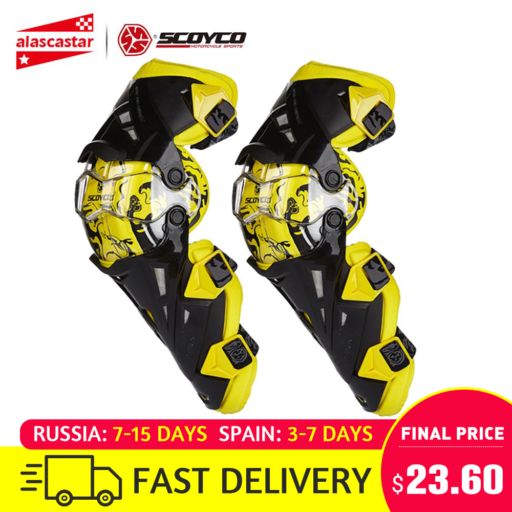 Scoyco rodillera de motocicleta para hombres equipo de protección rodillera equipo rodillero engranaje Motocross Joelheira Moto #