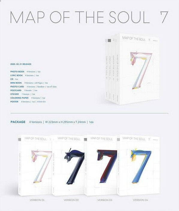 [MYKPOP] ~ 2020 nuevas ~ 4 versiones para elegir ~ Mapa del alma 7 ~ álbum CD Set ~ KPOP colección de fans SA20022201
