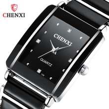 Chenxi Новые Стильные кварцевые часы для женщин элегантные черные