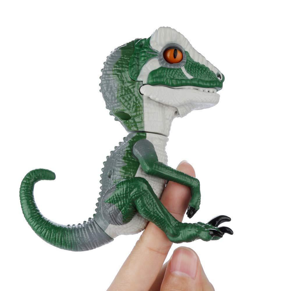Dedo dinossauro eletrônico animal de estimação brinquedo interativo domesticado raptor bruce dedo dinossauro crianças presente natal brinquedos para crianças Animais eletrônicos    -