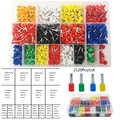 2120PCS crimp terminal block tubular electrical terminals for cable, wire connector cable size 0.5-10mm2 AWG22/20/18/16/14/7