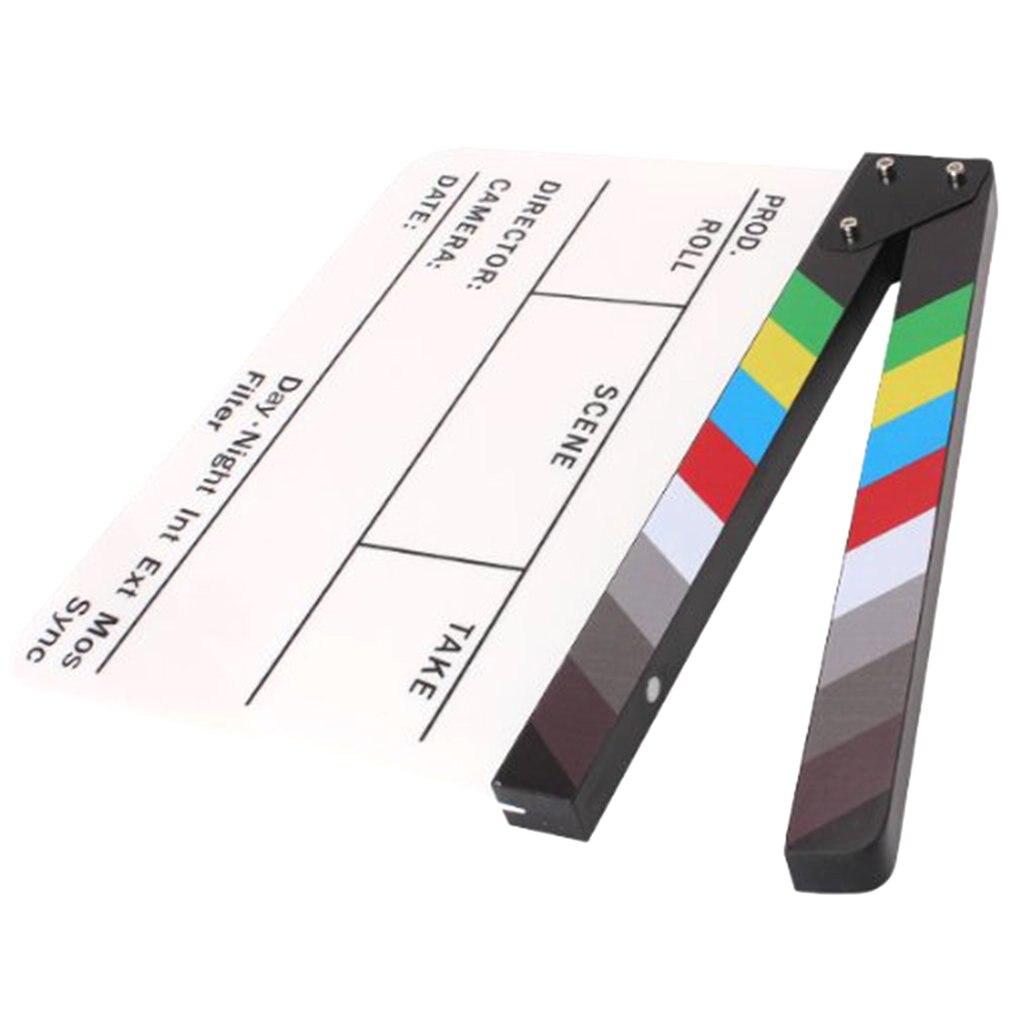 Director Video Scene Clapperboard Clapper Board Erase Director TV Movie Film Action Slate Clap Handmade Cut Prop