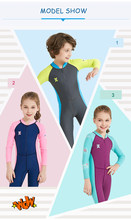 2019 New Kids Swimwear Jump Suit Long Sleeve Dive Wetsuit Sunproof Beach Wear Children Swim Wear Surf Diving Suit LS-18821(China)