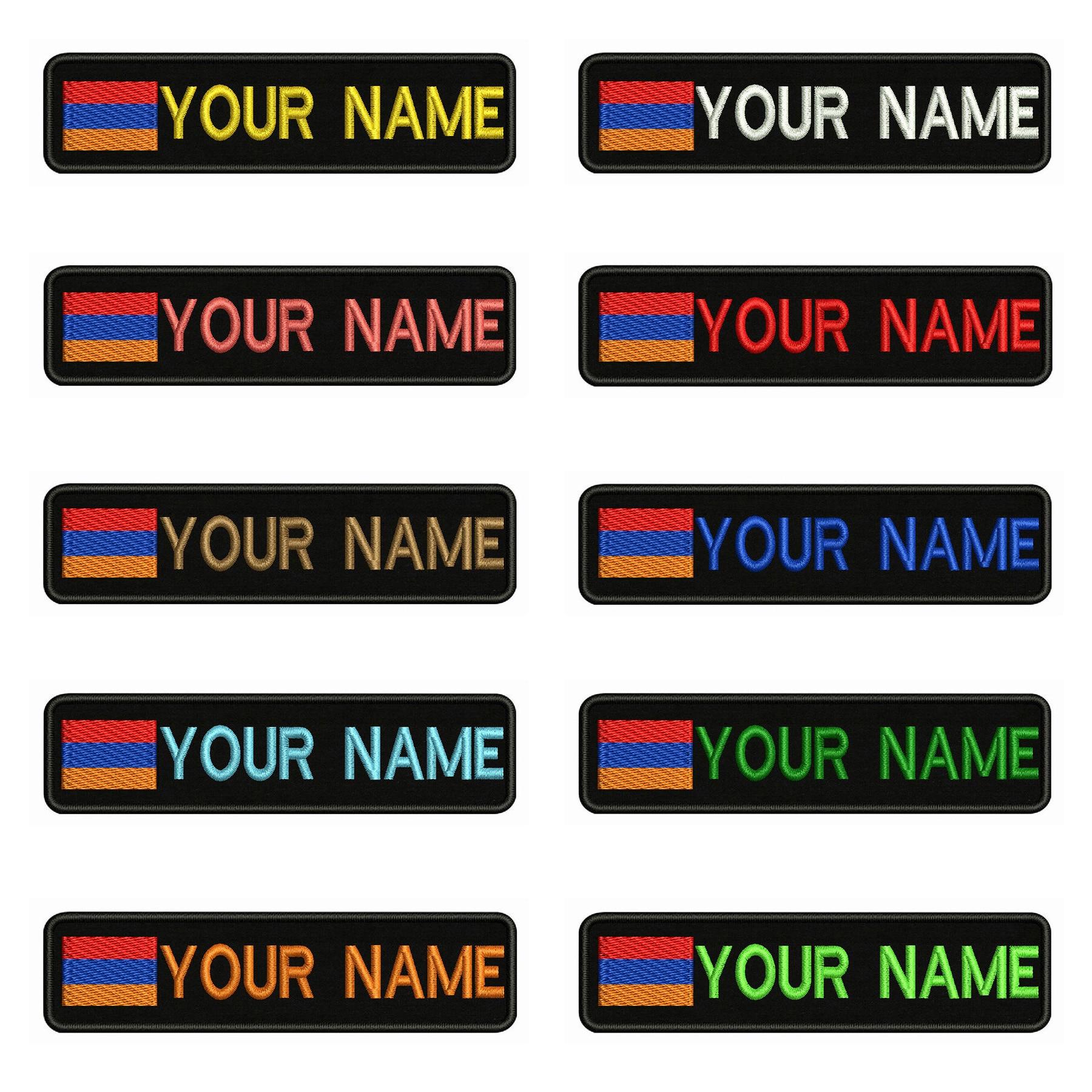 Вышитое имя, заплатка с текстом в полоску, нашивка с железной подкладкой или липучкой для одежды, 10x2,5 см
