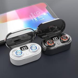 Беспроводные наушники, сенсорные Bluetooth наушники с отпечатком пальца, TWS 3D стерео спортивные наушники-вкладыши без задержки с микрофоном, спо...