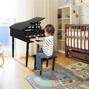 Деревянная детская игрушка для фортепиано, черный, четыре фута и механическое звуковое музыкальное оборудование, развивает музыкальный талант, раннее образование, поставки