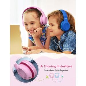 Image 5 - 2 個mpow CH6Sキッズヘッド有線ヘッドセット子供のための調整可能な折りたたみデザインとヘッドセットマイクボリューム制限pc MP3
