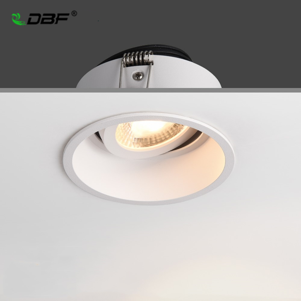 [DBF]Frameless Angle Adjustable Recessed LED Downlight 5W 7W 12W 15W Dimmable Deep Glare LED Ceiling Spot Light  Pic Background