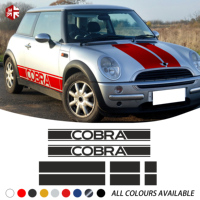Car Hood Bonnet Roof Rear Trunk Engine Cover Side Stripe Sticker Body Decal For MINI Cooper S R50 R52 R53 JCW One Accessories