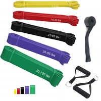 Тянущиеся повязки для фитнеса, 100% латексная эластичная лента для подвижности, сверхмощная лента для упражнений, ленты для пауэрлифтинга