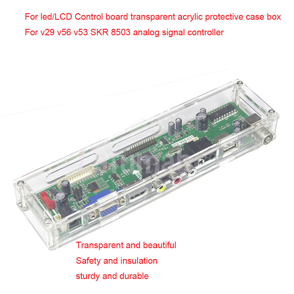 Latumab For LED/LCD Control Board Transparent Acrylic Protective Case Box For V29 V56 V53 SKR 8503 Analog Signal Controller