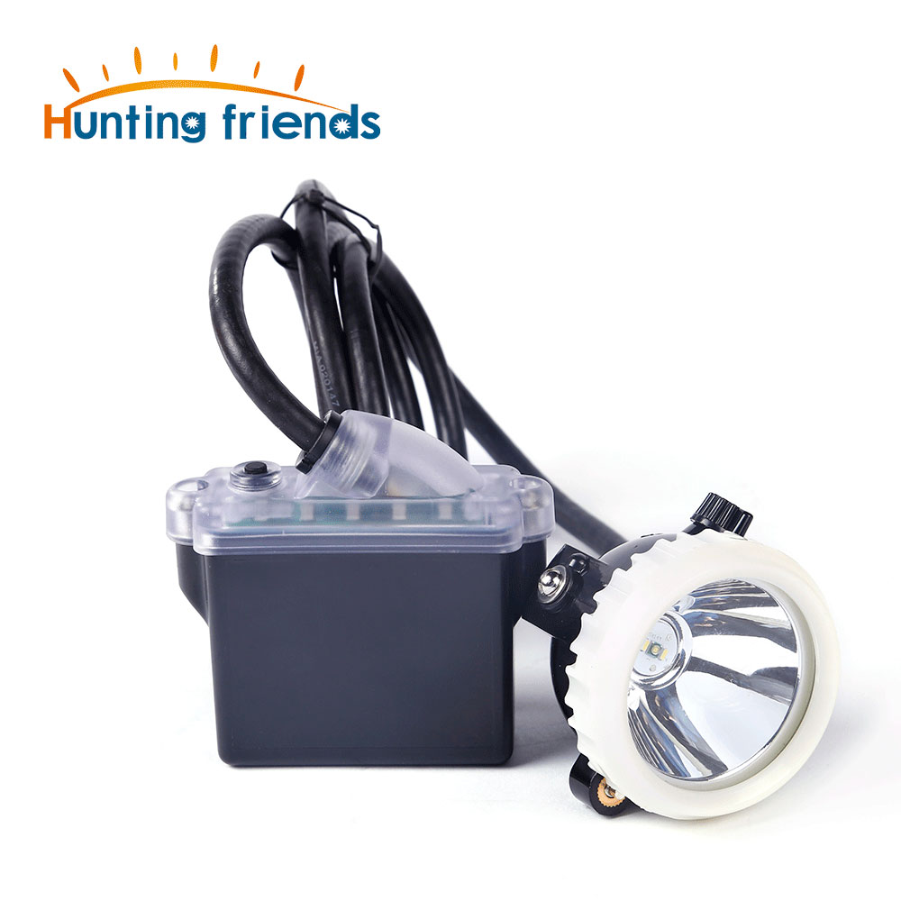 Mining Headlight 1+2 LED Miner Lamp 18650 Battery Mining Lamp Waterproof Headlight Explosion Proof Cap Miner Lamp