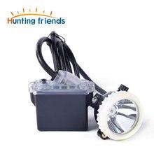 цена на Mining Headlight 1+2 LED Miner Lamp 18650 Battery Mining lamp Waterproof Headlight Explosion Proof Cap Miner Lamp