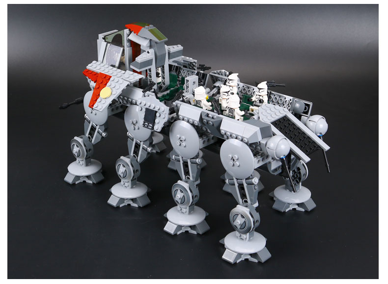 DHL 05053 Star Series Wars the Republic Drop-ship with AT-OT Walker Building Blocks Toy compatible LegoINGlys 10195 12