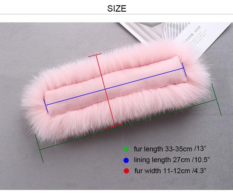 fox fur cuffs size