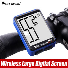 WEST BIKING Large Screen Bicycle Computer Wireless Waterproof Bike Speedometer Stopwatch With Backlight Cycling